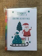 Childrens, Kids Personalised Christmas Eve Activity, Gift Pack, book with pencil
