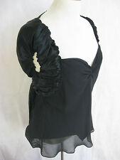 Studio M Size L Designer Silk Black blouse