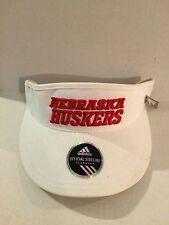 Nebraska Cornhuskers Adidas 2013 Official Sideline Visor White
