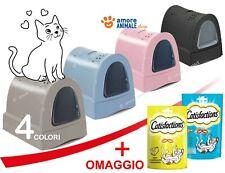 Imac ZUMA (+PS) Lettiera chiusa 56x40x42,5 cm per gatto igiene toilette 4 COLORI