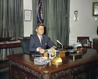 President John F Kennedy In Oval Officce  8x10 Picture Celebrity Print