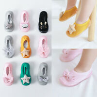 New Toddler Baby Girls Kids Rabbit Soft Sole Rubber Shoes Socks Slipper Stocking