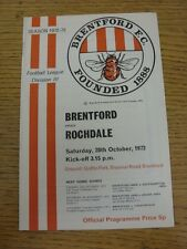 28/10/1972 Brentford v Rochdale  . Unless stated previously in the description t