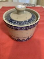 Vintage  Chinese Tea Cup Or Soup Bowl With Top Marked Rare Deco Rice