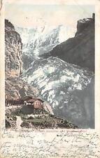 GRINDERWALD UNTERER GLETSCHER VIESSCHORNER TRAIN MAIL SWITZERLAND POSTCARD 1903