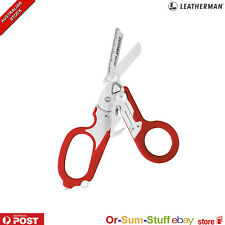 Red Leatherman Raptor First Responder Folding Medical Shears includes Holster