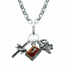 Religious Charm Necklace in Silver