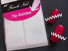 Nail Art White French Manicure Guide ZiG ZaG Tips Manicure Stickers Stencils 02