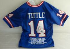 Y.A. TITTLE AUTOGRAPHED NFL-NEW YORK GIANTS STAT JERSEY. GTSM AUTHENTICATED.