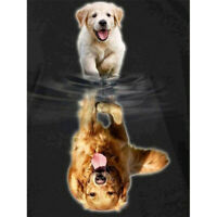 5D Full Drill Diamond Painting Dogs Reflection Cross Stitch Kits Embroidery Arts