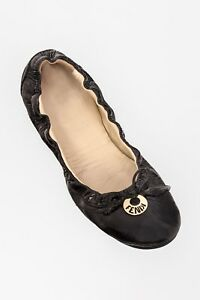 FENDI leather patent black ballet flats - US 9.5