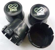 NEW 4x Cup Black Wheel 73x70 mm Enkei Sticker Center Cap Hubs Cover Rim Cc70b