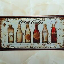 Drink Bottles Lisense Car Plate Vintage Tin Sign Bar Pub Home