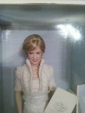 Franklin MINT Diana Princess of Wales Porcelain Portrait Doll 1998 Original