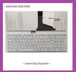 New Toshiba Satellite C850 C855 C850D C870 L850 L855 L870 L875 UK Keyboard WHITE