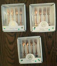 Oh Joy! Rose Gold Mini Appetizer Forks w/ Colored Tips 3 BOXES! 12 Forks Total