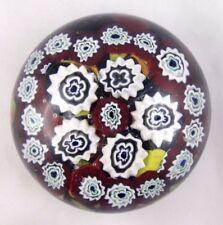 TOSO MURANO Presse-papier SULFURE MILLEFIORI Verrerie Glass Paperweight/baccarat
