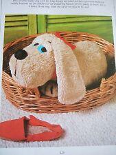 Jean Greenhowe Vintage patrón de costura conmovedores Hound Dog Toy