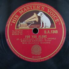 78rpm ENRICO CARUSO for you alone / a dream