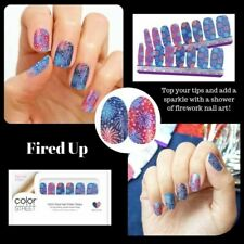 New COLOR STREET FIRED UP Patriotic Nail Polish Strips Patriotic RETIRED