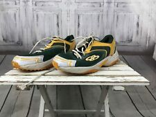 Boom Bah Mens Green Yellow Gold Trainers Athletic Shoes Shoes Running sz 12/13