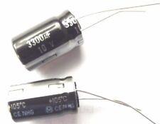3300uf 10v 105c Panasonic eca1ahg332 20mmx12,5 mm lot de 2 pcs