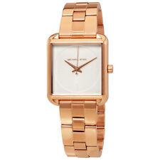 Michael Kors Lake White Dial Ladies Rose Gold Tone Watch MK3645
