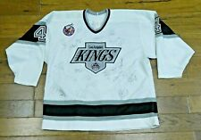 1992-1993 Rob Blake Los Angeles Kings Game Used Hockey Jersey Signed by 25