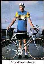 DIRK WAYENBERG Team EUROP-DECOR DRIES Signée Autographe eddy merckx vélo bike