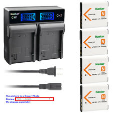 Kastar Battery LCD Rapid Charger for Sony NP-BN1 NPBN1 Sony Cyber-shot DSC-W830