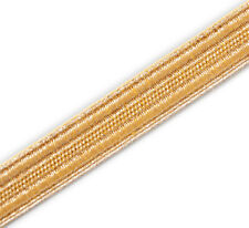 "5 Yards Gold Military Braid. Pilot Galon Uniform Army Navy Vestment Trim ½"" Wide"