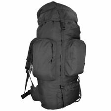 Mil-Tec 88L Tactical Camping Hiking Trekking Army Rucksack RECOM Backpack Black