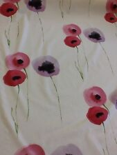 sanderson poppies fabric in lilac and pink by the metre