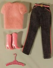 Superstar era Fashion Jeans Barbie Outfit  1980's With Pink Boots