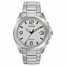 Citizen AW1430-86A Men's Eco Drive Stainless Steel Bracelet 3-Hand Analog Watch