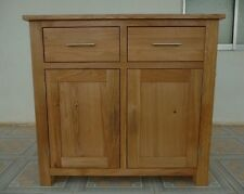 Bella Oak 2 Drawer 2 Door Mini Sideboard Solid Oak Fully Assembled