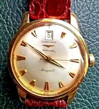LONGINES CONQUEST HERITAGE 7290.633 AUTOMATIC L633.5 SOLID GOLD 18K