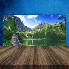 Crédence de cuisine en verre Panneau 120x60 Nature Montagne Lac