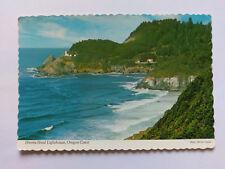 Oregon Vintage colour Postcard c1970s Heceta Head Lighthouse