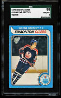 1979-80 O-Pee-Chee OPC WAYNE GRETZKY ROOKIE Hockey Card #18 SGC 88 NM-MT = PSA 8