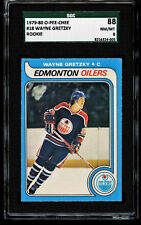 1979-80 O-Pee-Chee OPC WAYNE GRETZKY ROOKIE Hockey Card #18 SGC 88 NM-MT = PSA 8