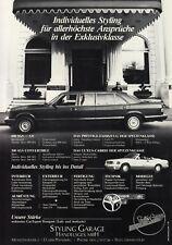 MERCEDES S-KLASSE W126 Pullman Cabrio Umbau Styling Prospekt Brochure Sheet AE