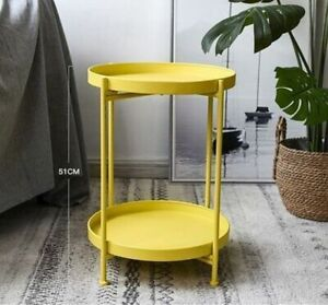 Coffee Table Living Room Mini Sofa Side Tea Table Nordic Iron Double Layer Table