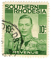 (I.B) Southern Rhodesia Revenue : Duty Stamp 10/-