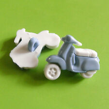 15 Moto Motorcycle Scooter Autobike Kid Transport Sewing Buttons Blue K830