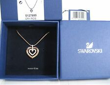 Swarovski Circle Heart Pendant, rose gold-plated clear crystal Authentic 5127999