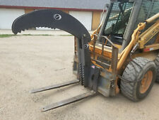 Budd New Hd Pallet Fork Grapple Clamp Skid Steer Forklift Use Trees Culverts