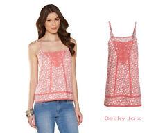 MONSOON Kirsten Floral Print Cami Top ~ UK 22 EU 50 US 18 ~ Pink ~ BNWT