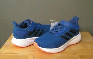 Adidas Little Kid Boy Royal Blue/Black/Coral Duramo 9 Sneakers US 12 NWB