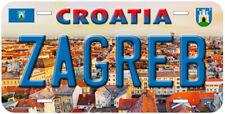 Zagred Croatia Novelty Car Auto License Plate